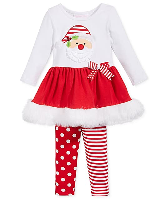 Bonnie Jean Christmas Outfits.Bonnie Jean Girls Santa Christmas Holiday Red Set