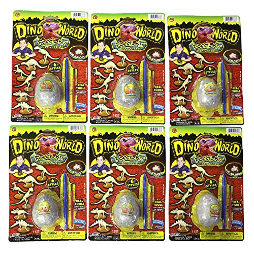 - Dino World Dig it Out and Assemble Dinosaur Fossil Kit Egg Shaped (6 Pack All