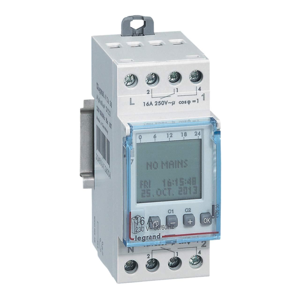 Legrand Saison programmable 2/canaux 2/W 230/V AC 412630/ALPHAREX DY22/Astro fonction 412630