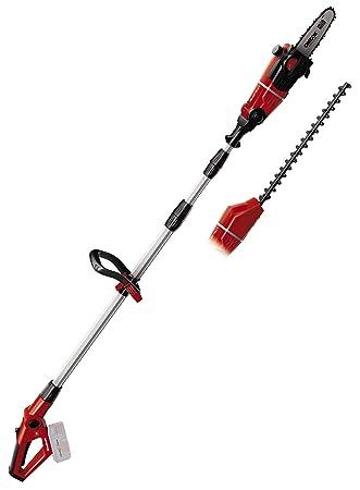 Einhell GE-HC 18 Li T-Solo -Pack con herramienta multifuncional sin cable, motosierra y cortasetos, mango telescópico bloqueable, 18 V, velocidad de ...