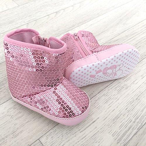La panoplie Des Petits, Mädchen Babyschuhe - Krabbelschuhe & Puschen  rosa Rose 9-12 Monate