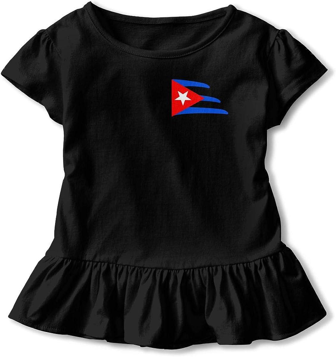 Toddler Baby Girl Cuba Icon 100/% Cotton T Shirts Short Sleeve Ruffle Tee Basic Tops