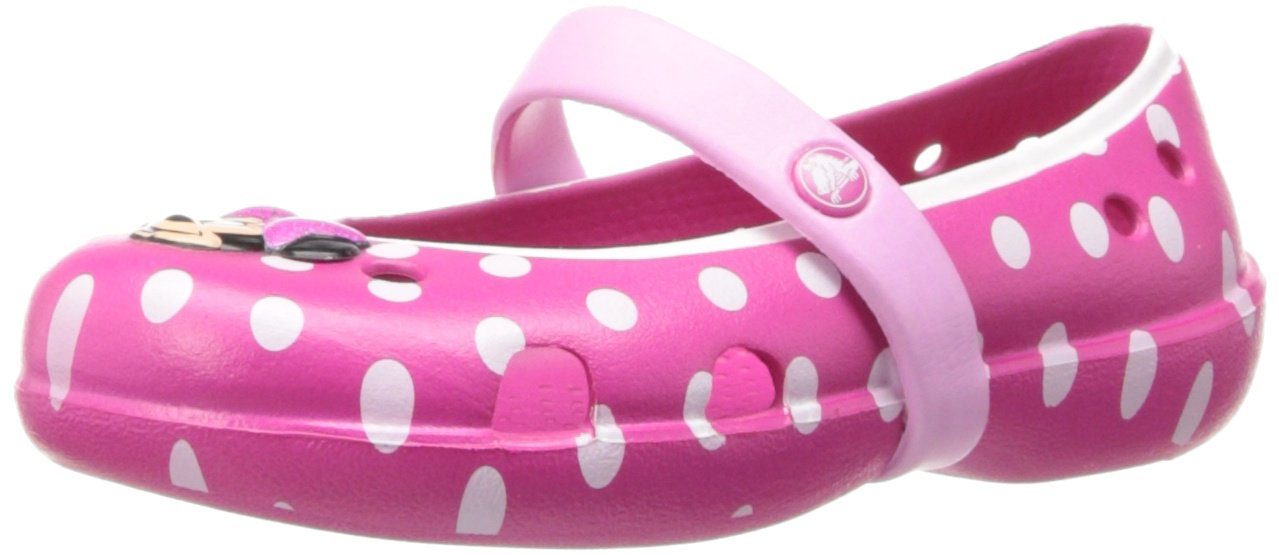 Crocs Keeley Minnie Flat (Toddler/Little Kid),Candy Pink/Carnation,11 M US Little Kid by Crocs (Image #1)