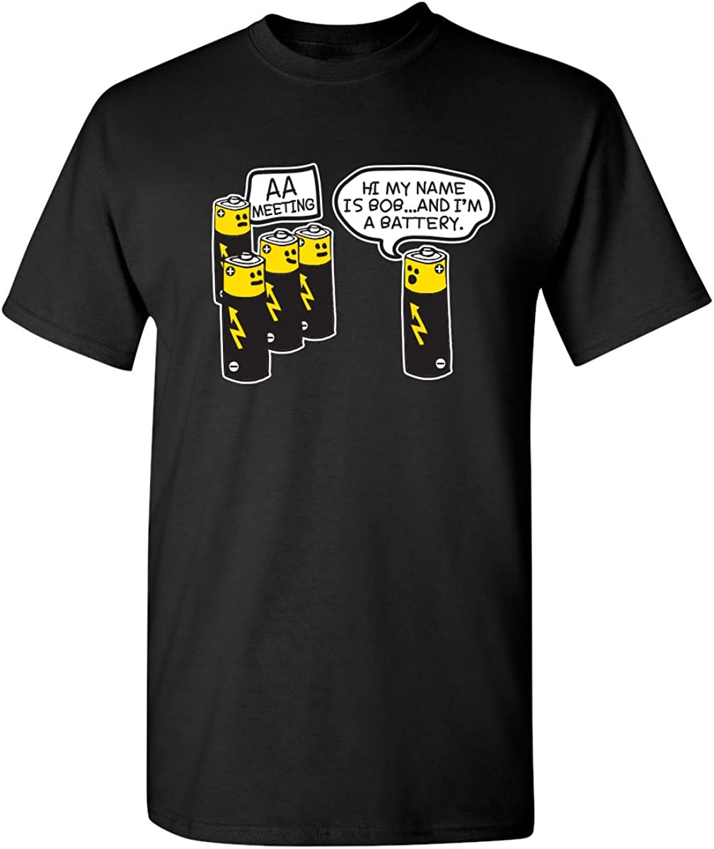 AA Battery Meeting Graphic Adult Humor Novelty Sarcastic Funny T Shirt