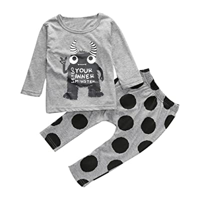 Amiley baby girl clothing sets ,1Sets Toddler Infant Baby Boys T-shirt Tops+Pants Clothes