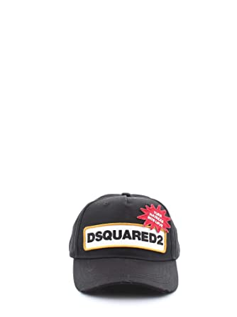 d05a3ae6630e3 Dsquared2 D2 Patch Casquette Baseball Homme Nero  Amazon.fr ...