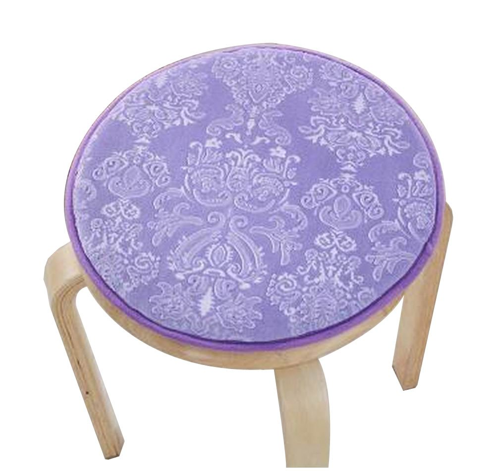 [Purple] Velvet Round Stool Cover Stool Cushion Bar Stool Mat Seat Pad