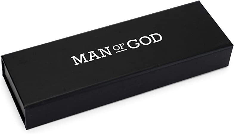 Man of God Silver Tone 5 inch Quality Metal Ballpoint Stick Pen On Card