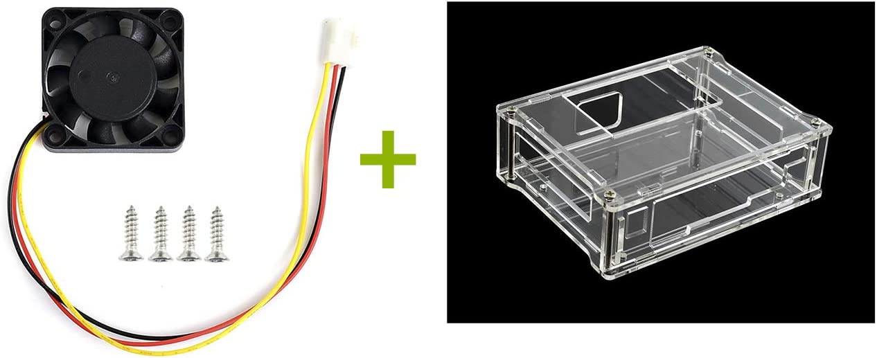 GeeekPi Clear Acrylic Case with Cooling Fan for NVIDIA Jetson Nano Developer Kit