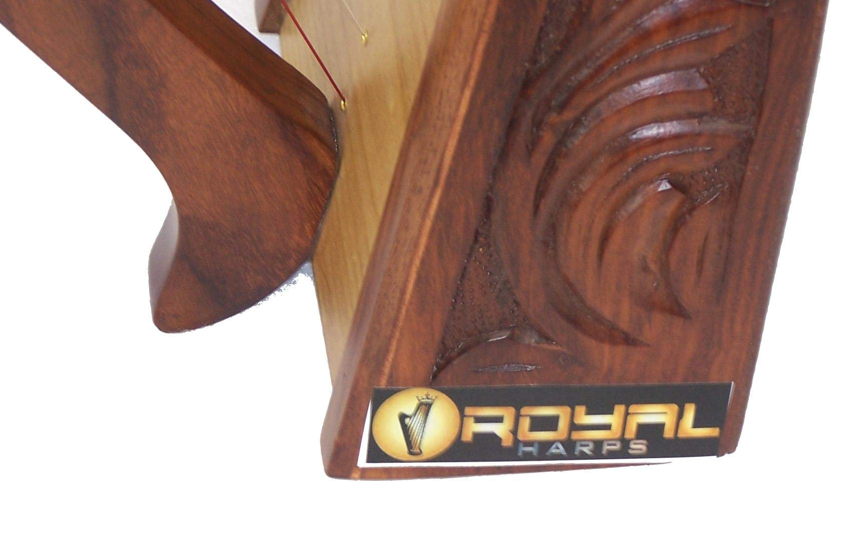 Celtic Irish Baby Harp 12 Strings Solid Wood Free Bag Strings Key by ROYAL HARPS (Image #5)