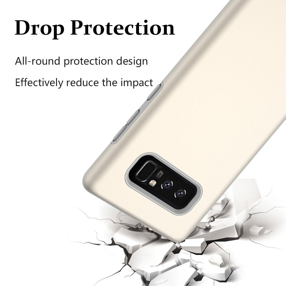 Note 8 Case, Galaxy Note 8 Case, MagicSky Slim Corner Protection Shock Absorption Hybrid Dual Layer Armor Defender Protective Case Cover for Samsung Galaxy Note 8 (Gold)