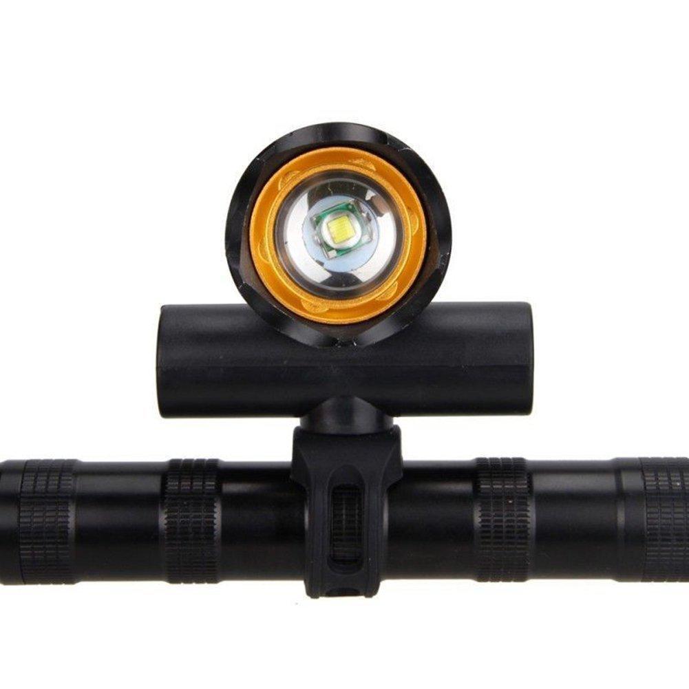 5000 lm Prokth/® Faro delantero de bicicleta recargable por USB carga T6 Zoom Highlight para bicicleta de monta/ña y conducci/ón nocturna al aire libre
