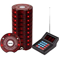 Retekess SU-668 Pager System for Office Max 999 Beepers Wireless Calling System with 10 Coaster Pagers for Restaurants…