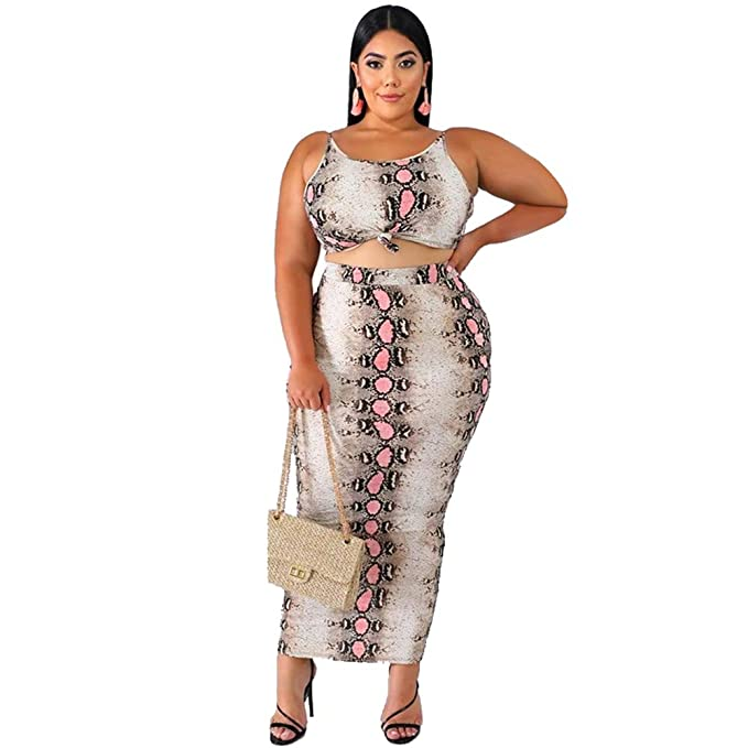 Nigols Plus Size Bodycon Dress 2 Piece Outfits for Women ...