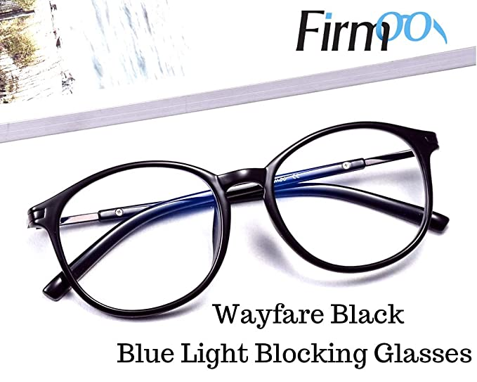 Amazon.com: Firmoo New Wayfarer Non-prescription Glasses Frame Blue ...