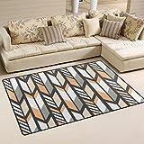 WellLee Area Rug,Ethnic Pattern Tribal Ornament Arrows Floor Rug Non-slip Doormat for Living Dining Dorm Room Bedroom Decor 31x20 Inch