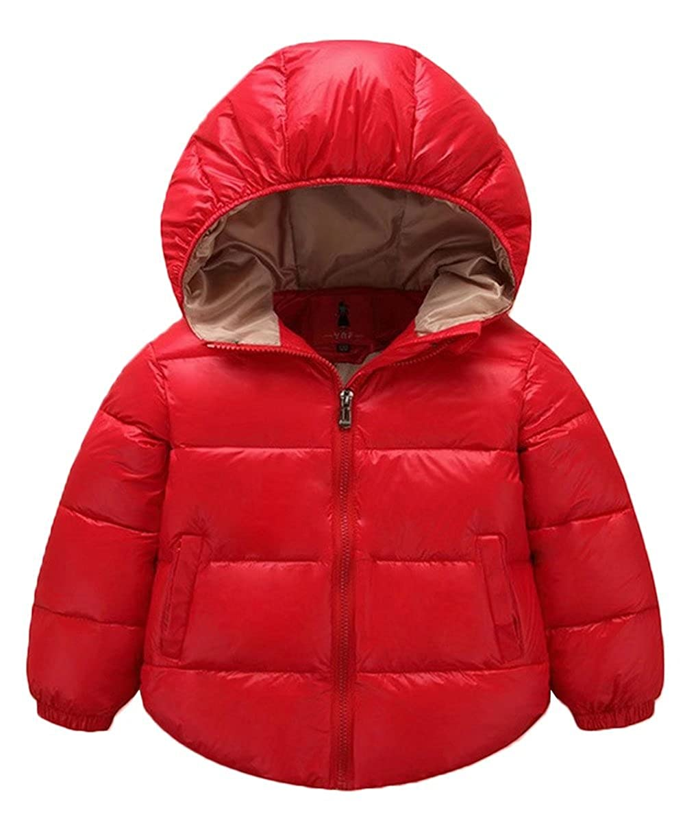 Gxia Little Girls Boys Hooded Down Jacket Lightweight Warm Waterproof Winter Coat