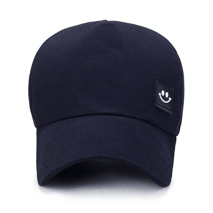 Gorra de béisbol Unisex, Unisex Hombres Mujeres Sonrisa Snapback Sombrero Hip-Hop Gorras Ajustables Sombrero de Lengua Gorra de Hip Hop Visera Sombrero para ...