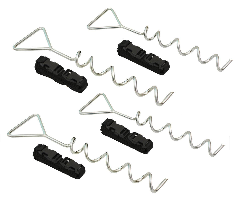 BNEW robusten, verzinkten Trampolin Anker Peg Kit/Tie Down Kit, passend für alle Trampoline. Erdgeschoss Camp Schaukeln, Garten Schuppen, Play Sets und vieles mehr Zelt Fisch UK