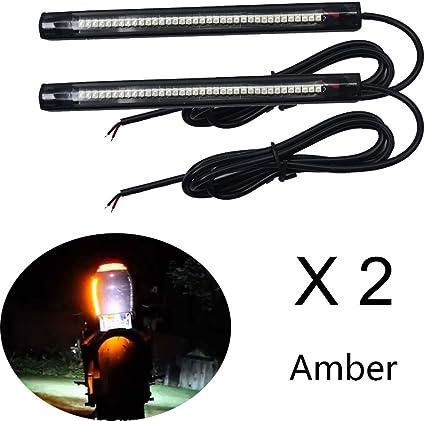 US 2x Motorcycle Scooter LED Turn Signal Indicator Blinker Light Self-adhesive