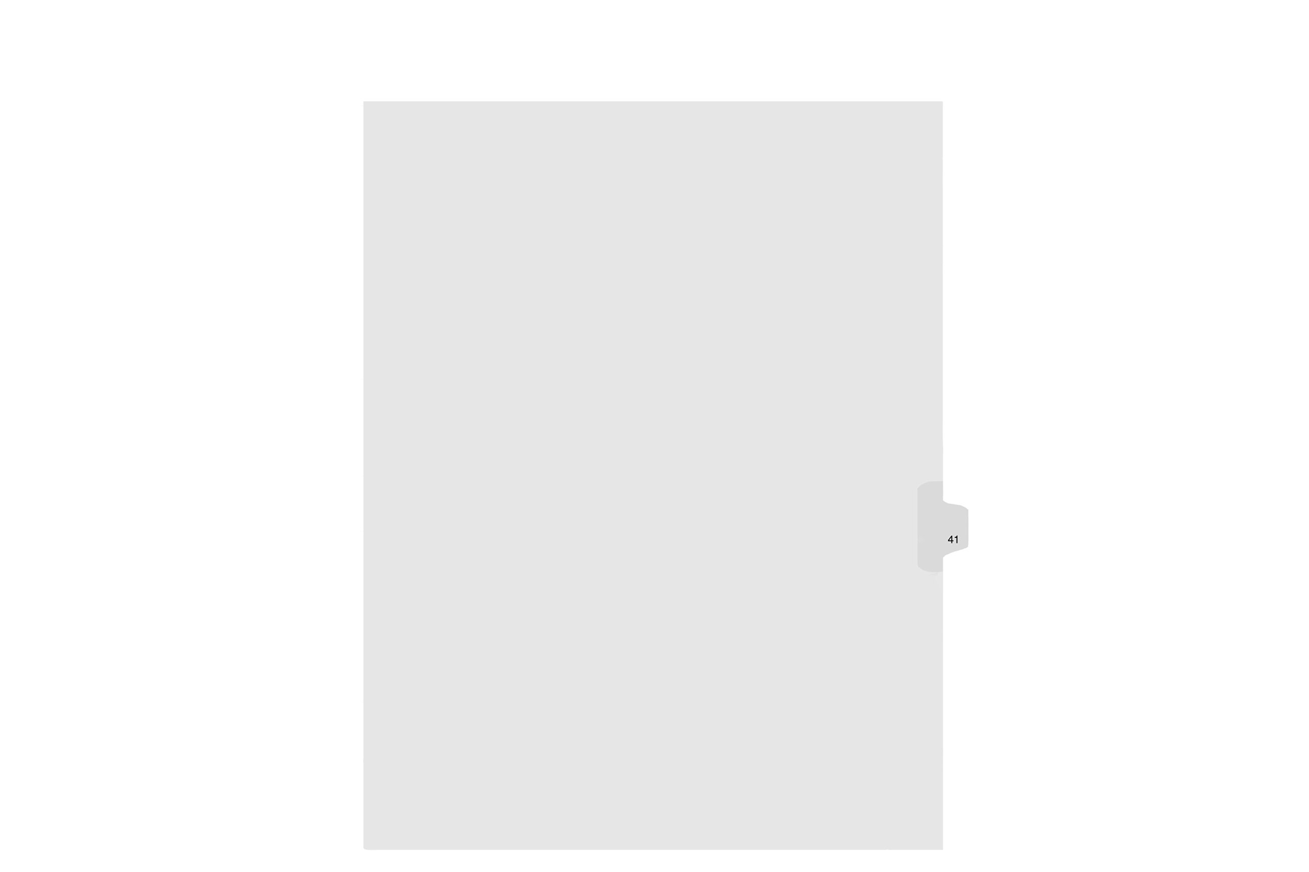 Kleer-Fax Letter Size Individually Numbered 1/25th Cut Side Tab Index Dividers, 25 Sheets per Pack, White, Number 41 (91041)