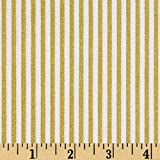 Riley Blake Designs Riley Blake Gold Sparkle Stripe Gold Metallic Fabric By The Yard, Gold
