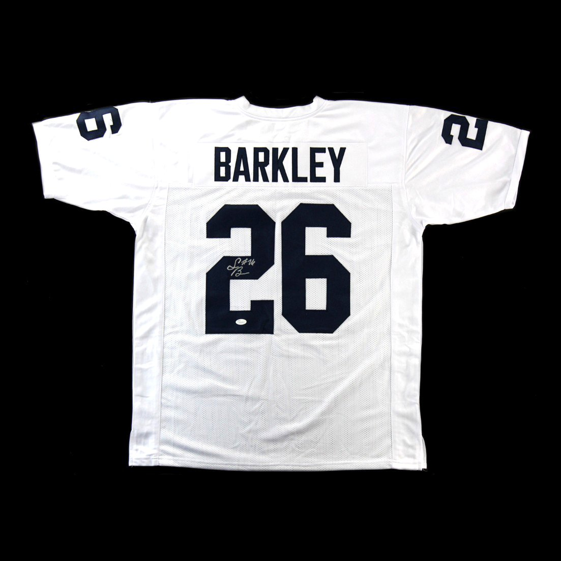 on sale 4693f 18e7d Saquon Barkley Autographed/Signed Penn State Custom White ...