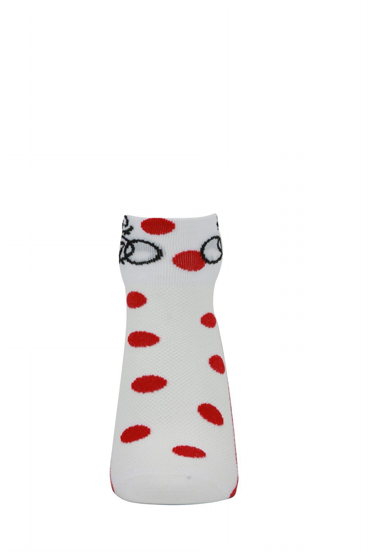 LIN Cycling Socks Bike Jersey Socks Yellow Green White red polka dots 4 Pack 4M by Lin (Image #2)