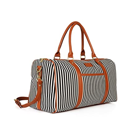 Large Travel Bag Women Weekender Duffle Bag Canvas Travel Tote Carry On  Flight Holdall Bag Handbag 2bc6253964