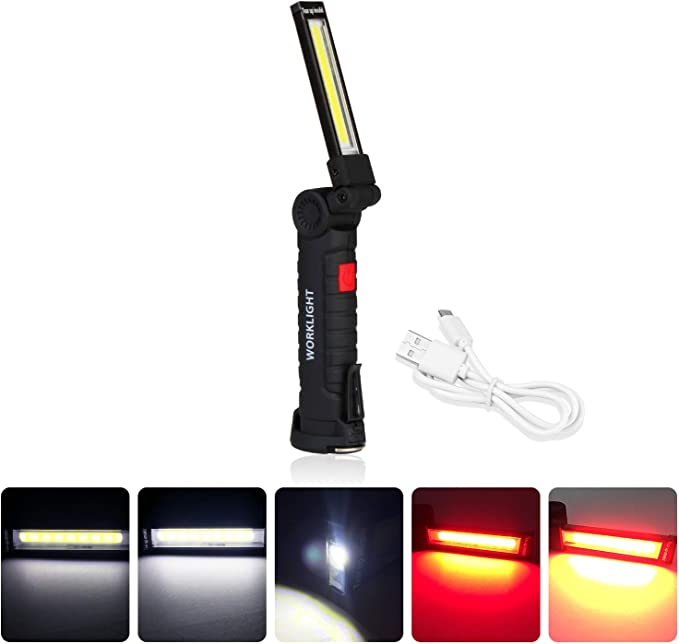 Details about  /Adjustable Lamp Keychain Light Rotary Switch Portable Work Light Hiking Climbing