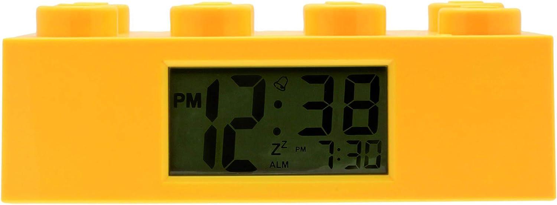 LEGO Despertador con luz Infantil Amarillo 9002144