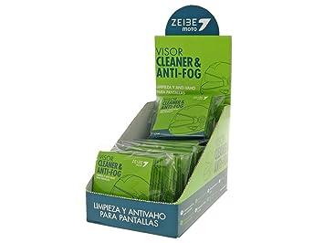 antivaho y casco visera limpiador Zeibe Toallitas 64 unidades): Amazon.es: Coche y moto