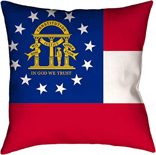 ArtVerse Katelyn Smith 20 x 20 Faux Suede Double Sided Print with Concealed Zipper /& Insert New York Pillow