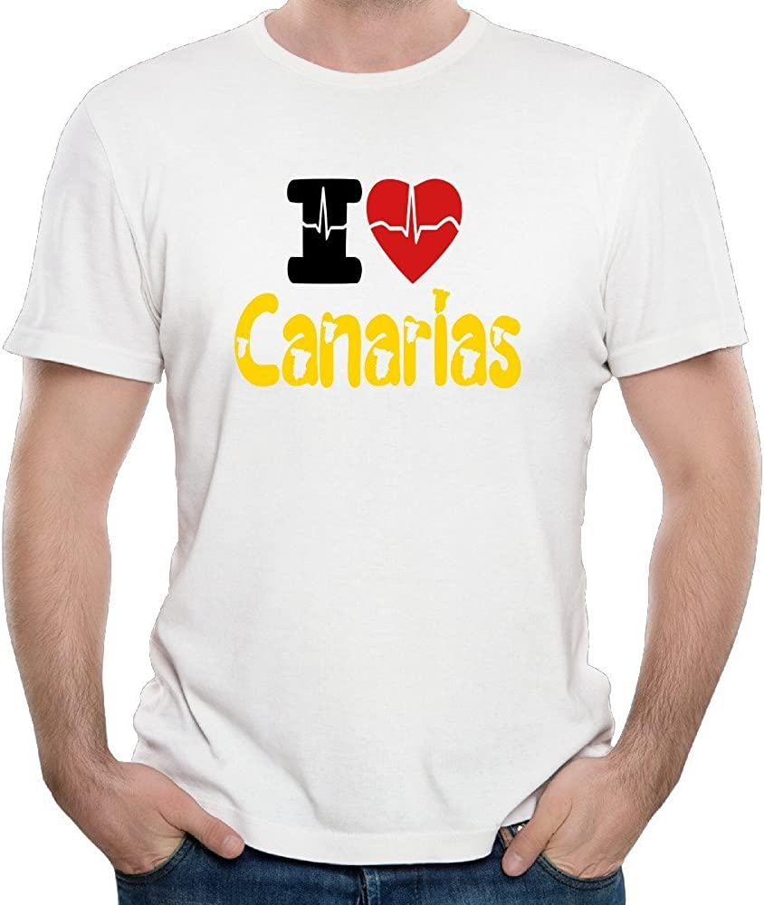 Duxa Men's I Love Canarias Symbol Tshirts