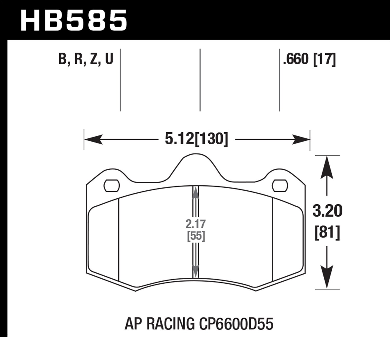 Hawk Performance HB585Q.660 Motorsports Brake Pads