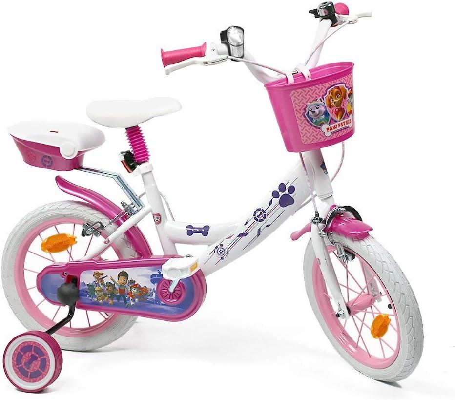 Skye Everest - Bicicleta de 14 Pulgadas para niña con Licencia de la Patrulla Canina, Color Blanco