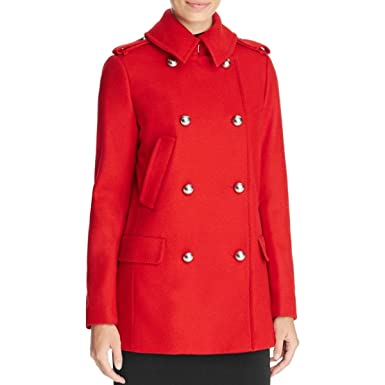 Amazon.com: MICHAEL Michael Kors Womens Wool Double-Breasted ...