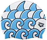 Arena Poolish II Swim Cap, Wave White