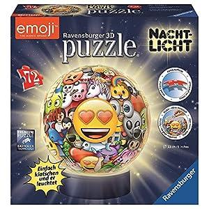 Ravensburger Puzzle 3d Ball Notte Luce Emoji 72 Pezzi