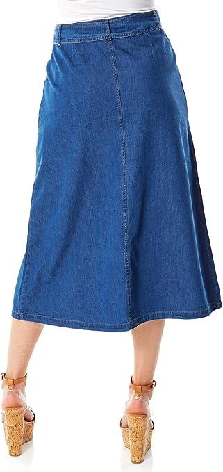 Roman Originals Falda de Bolsillo para Mujer, 100% algodón, Ideal ...