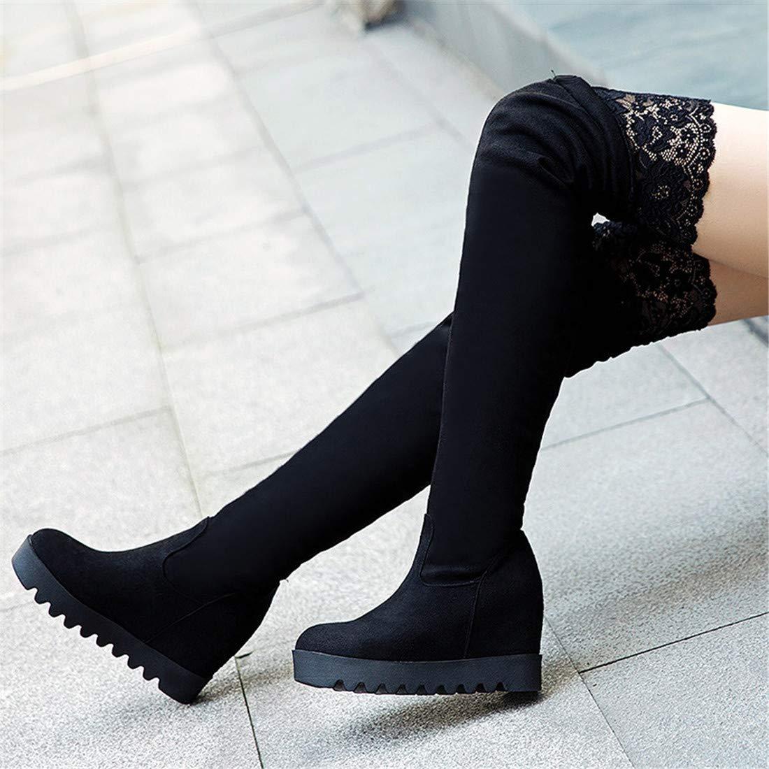 Stiefel-DEDE Stiefel & Stiefeletten, und Damenstiefel mit High Heels Herbst und Stiefeletten, WintermodeStiefel über dem Knie groß 48af61