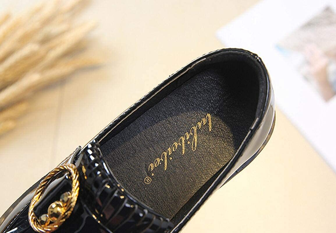 Black 26//9.5M US Toddler Retro Kids Loafers Girls Casual Shoes Walking Shoes Flats