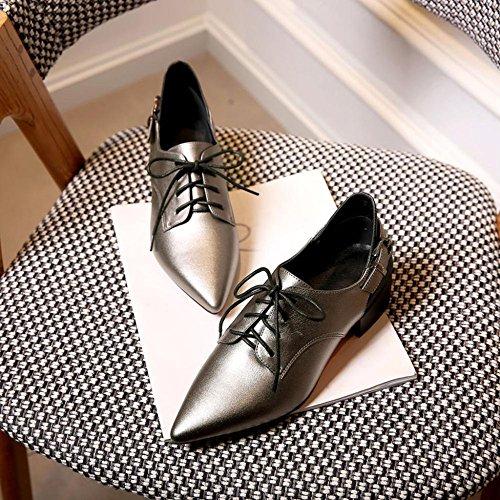 Material Hochzeitszeremonie Rot Handel Einzelne PU Schuhe High Sandalen Silber ZHRUI Lässig Heels FH2331 Frauen Pumps Y74wOf