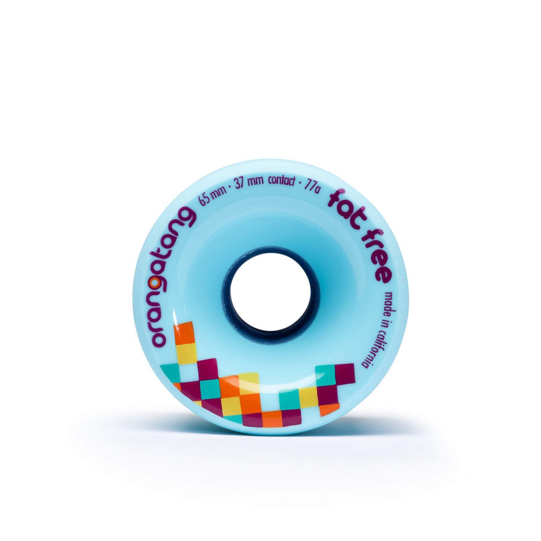 Orangatang Fat Free 65 mm Freeride Longboard Skateboard Wheels Set of 4