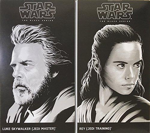 Sdcc Star (SDCC 2017 Hasbro Exclusive Star Wars Last Jedi Black Series Rey and Luke Skywalker)