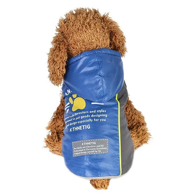 zolimx® Mascotas Perros Accesorios, Ropa de Mascotas Cachorro Chaqueta de Dos Piernas con la Pata de Impresión de Algodón Abrigo: Amazon.es: Ropa y ...