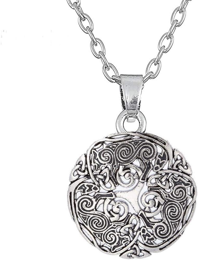 VAWAA Triskele Spiral Symbol Teen Wolf Collar para Hombres Mujeres Triskelion Colgante Trinity Amulet