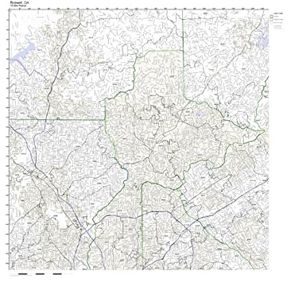 Roswell Zip Code Map.Amazon Com Roswell Ga Zip Code Map Laminated Home Kitchen