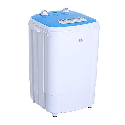 Carte Bleue Machine A Laver.Mini Machine A Laver 250 W Fonctions Lavage Essorage Avec Minuterie Bleu Et Blanc