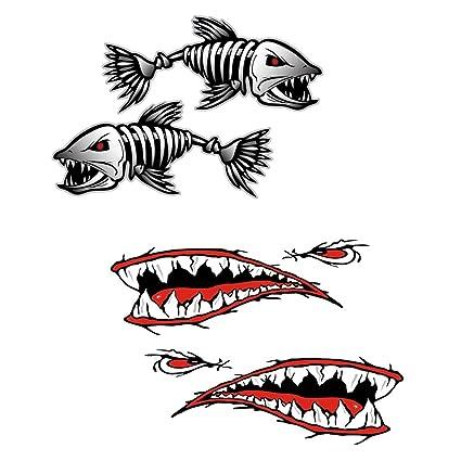 Gazechimp 4 Piezas de Pegatinas Etiquetas de Dientes de Tiburón ...